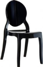 Thermo Plastic Elizabeth Stacking Chair - Black